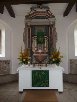 Altar in St.Briccius in Cracau